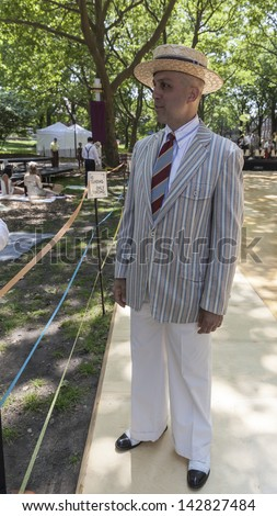 NEW YORK - JUNE 15: Roddy Caravella attends 8th annual Jazz Age lawn party by Michael Arenella & the Dreamland Orchestra on Governors Island on June 15, 2013 in New York City
