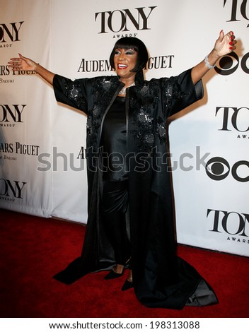 NEW YORK-JUNE 8: Singer Patti LaBelle attends American Theatre Wing's 68th Annual Tony Awards at Radio City Music Hall on June 8, 2014 in New York City. - stock photo