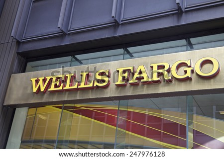 NEW YORK - JUNE 06: Wells Fargo branch in New York, United States America. Photo taken on: October 10th, 2014.