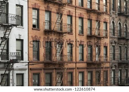 New york manhattan buildings - stock photo