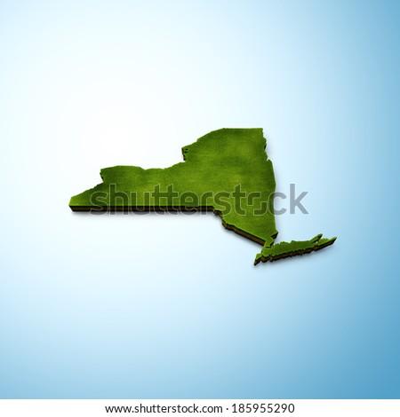 New York Map - stock photo
