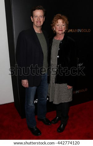 "NEW YORK-MAR 30: Actor Dylan Baker (L) and wife Becky Ann attend the ""Woman In Gold"" New York premiere at the Museum of Modern Art on March 30, 2015 in New York City. - stock photo"