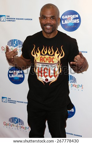 NEW YORK-MAR 28: Musician Darryl McDaniels attends the 2015 Garden Of Laughs Comedy Benefit at the Club Bar and Grill at Madison Square Garden on March 28, 2015 in New York City. - stock photo