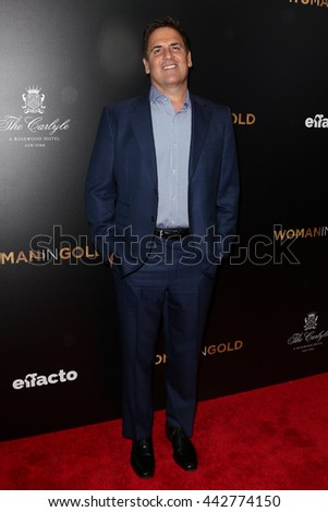 """NEW YORK-MAR 30: TV personality Mark Cuban attends the """"Woman In Gold"""" New York premiere, in conjunction with The Carlyle and ef+facto at the Museum of Modern Art on March 30, 2015 in New York City. - stock photo"""