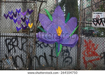NEW YORK - MARCH 26, 2015: Street art at East Harlem in New York
