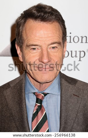 NEW YORK - MAY 16, 2014: Bryan Cranston attends the Drama League Awards at the Marriot Marquis on May 16, 2014 in New York City. - stock photo