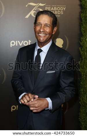 NEW YORK-MAY 21: Bryant Gumbel attends the 75th Annual Peabody Awards Ceremony at Cipriani Wall Street on May 21, 2016 in New York City. - stock photo