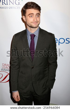 NEW YORK - MAY 16, 2014: Daniel Radcliffe attends the Drama League Awards at the Marriot Marquis on May 16, 2014 in New York City. - stock photo