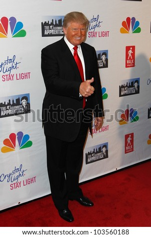 "NEW YORK-MAY 20: Donald Trump attends the ""Celebrity Apprentice"" Live Finale at the American Museum of Natural History on May 20, 2012 in New York City. - stock photo"