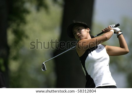 NEW YORK- MAY 23: Grace Park in action during the first round of the Sybase Classic  May 23,2004 in New Rochelle, New York. - stock photo
