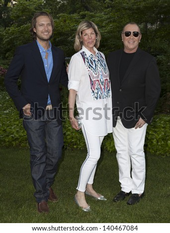 NEW YORK - MAY 30: Jamie De Roy, Lance LePere and Michael Kors attend the 12th Annual Bette Midler's New York Restoration Project Spring Picnic at Gracie Mansion on May 30, 2013 in New York City.