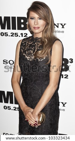 NEW YORK - MAY 23: Melania Trump attends the 'Men In Black 3' New York Premiere at Ziegfeld Theatre on May 23, 2012 in New York City.