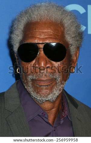 NEW YORK - MAY 14, 2014: Morgan Freeman attends the 2014 CBS Upfront at Lincoln Center on May 14, 2014 in New York City. - stock photo