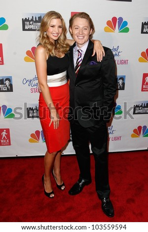NEW YORK-MAY 20: Singer Clay Aiken and Ivanka Trump attend the 'Celebrity Apprentice' Live Finale at the American Museum of Natural History on May 20, 2012 in New York City. - stock photo