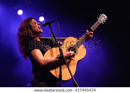 NEW YORK-MAY 6: Singer Nini Camps of Antigone Rising performs onstage at the Paramount on May 6, 2016 in Huntington, New York.
