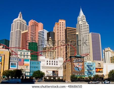 New York New York in Las Vegas - stock photo
