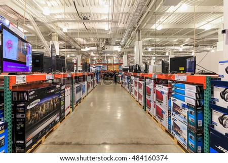 NEW YORK - NOV 3: Costco store at East 117th Street, Manhattan on Nov 3, 2015 in New York, USA.