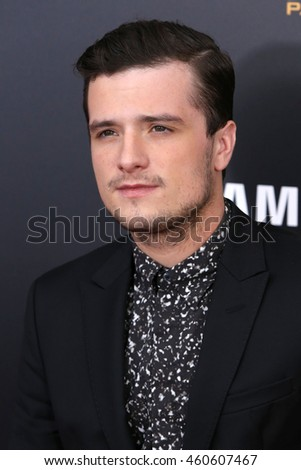 "NEW YORK - NOV 18, 2015:  Josh Hutcherson attends the premiere of ""The Hunger Games: Mockingjay - Part 2"" at AMC Lincoln Square on November 18, 2015 in New York City."