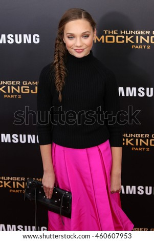 "NEW YORK - NOV 18, 2015:  Maddie Ziegler attends the premiere of ""The Hunger Games: Mockingjay - Part 2"" at AMC Lincoln Square on November 18, 2015 in New York City."