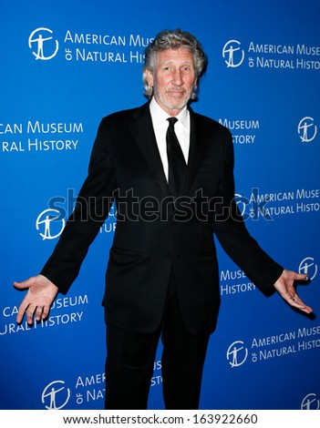 NEW YORK-NOV 21; Musician Roger Waters attends the American Museum of Natural History's 2013 Museum Gala at American Museum of Natural History on November 21, 2013 in New York City. - stock photo