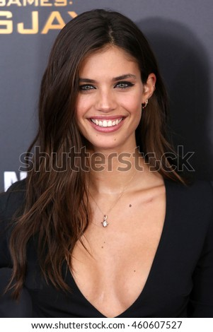 "NEW YORK - NOV 18, 2015:  Sara Sampaio attends the premiere of ""The Hunger Games: Mockingjay - Part 2"" at AMC Lincoln Square on November 18, 2015 in New York City."