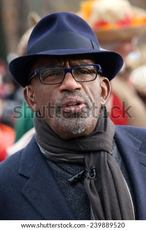 NEW YORK - NOVEMBER 27: Al Roker appears at the 88th Annual Macy's Thanksgiving Day Parade on November 27, 2014 in New York City. - stock photo