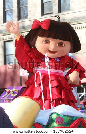 NEW YORK - NOVEMBER 24: Dora the Explorer attends the 86th Annual Macy's Thanksgiving Day Parade on November 24, 2011 in New York City.