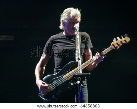 "NEW YORK - NOVEMBER 6: Roger Waters Performs ""The Wall Live"" In Madison Square Garden on November 6, 2010 in New York. - stock photo"