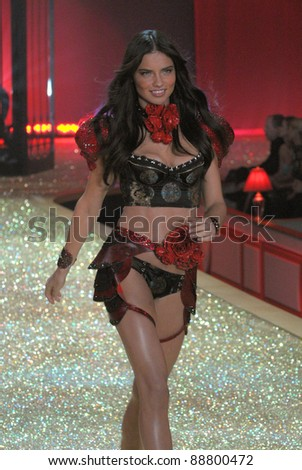 NEW YORK - NOVEMBER 10: Victoria's Secret Fashion model Adriana Lima walks the runway during the 2010 Victoria's Secret Fashion Show on November 10, 2010 at the Lexington Armory in New York City. - stock photo