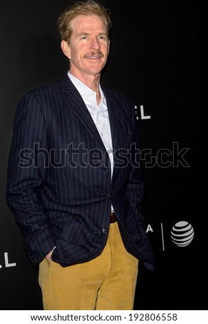 NEW YORK, NY - APRIL 26: Actor Matthew Modine attends the closing night gala premiere of 'Begin Again' during the 2014 Tribeca Film Festival at BMCC Tribeca PAC - stock photo