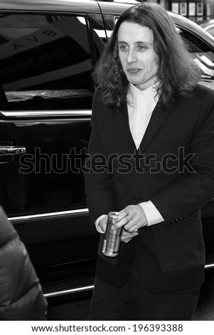 NEW YORK, NY - APRIL 17: Actor Rory Culkin arrives at the 'Gabriel' Premiere during the 2014 Tribeca Film Festival at the SVA Theater - stock photo