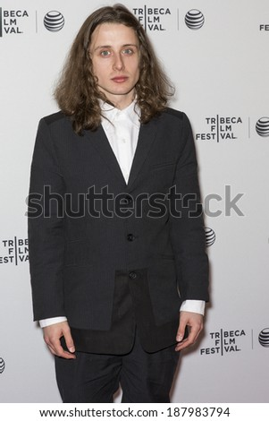 NEW YORK, NY - APRIL 17: Actor Rory Culkin attends the 'Gabriel' Premiere during the 2014 Tribeca Film Festival at the SVA Theater - stock photo