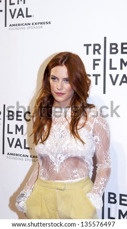 NEW YORK, NY - APRIL 17:Actress/model Riley Keough attends the 'Mistaken for Strangers premiere during the opening night of the 2013 Tribeca Film Festival at BMCC Tribeca PAC on April 17, 2013 in NYC