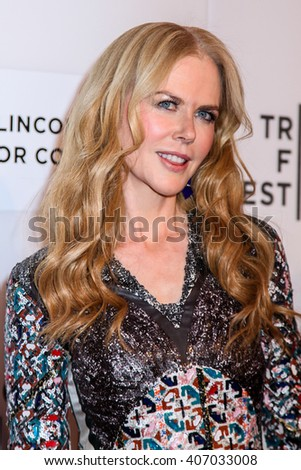NEW YORK, NY - APRIL 16: Actress Nicole Kidman  attend 'The Family Fang' Premiere - 2016 Tribeca Film Festival at John Zuccotti Theater  on April 16, 2016 in New York City - stock photo