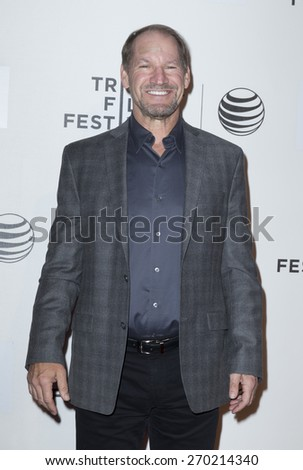 New York, NY - April 16, 2015: Bill Cowher attends Tribeca Film Festival premiere of Play it Forward film at BMCC Tribeca Performing Arts Center - stock photo