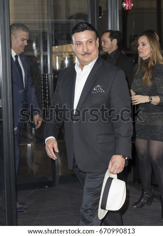 New York, NY - April 19, 2016: Carlito Fuente attends unveiling of Hublot Fifth Avenue Flagship Boutique