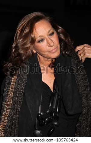 NEW YORK, NY - APRIL 16: Designer Donna Karan attends Vanity Fair Party for the 2013 Tribeca Film Festival on April 16, 2013 in New York City.