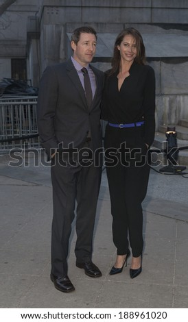 New York, NY - April 23, 2014: Edward Burns and Christy Turlington Burns attend the Vanity Fair Party during the 2014 Tribeca Film Festival at the State Supreme Courthouse