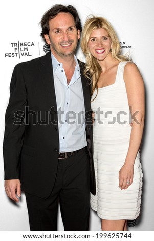 NEW YORK, NY - APRIL 25: Executive producer Todd Camhe and wife Lindsay attend the premiere of 'Sister' during the 2014 Tribeca Film Festival at SVA Theater