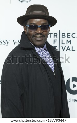 NEW YORK, NY - APRIL 16, 2014: Fab 5 Freddy attends the 'Time Is Illmatic' Opening Night Premiere during the 2014 Tribeca Film Festival at The Beacon Theatre
