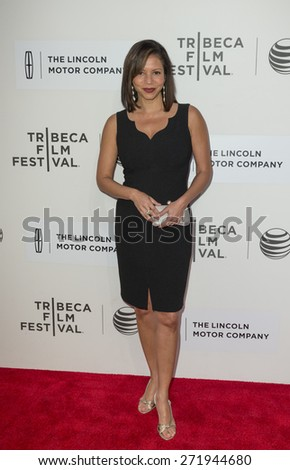 New York, NY - April 22, 2015: Gloria Reuben attends Tribeca Film Festival premiere of Anesthesia movie at BMCC Performing Arts Center