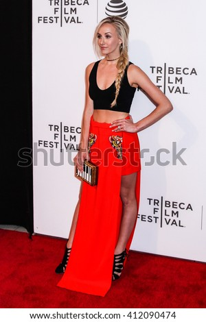 NEW YORK, NY - APRIL 18: Gymnast Nastia Liukin attends 'Equals' Premiere 2016 Tribeca Film Festival at John Zuccotti Theater at BMCC Tribeca Performing Arts Center on April 18, 2016 in New York City. - stock photo