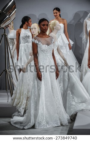NEW YORK, NY - APRIL 20: Models appear at A Toast To Tony Ward: A Special Bridal Collection at Kleinfeld on April 20, 2015 in New York City.