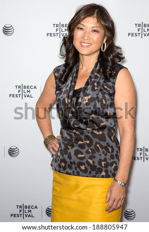 NEW YORK, NY - APRIL 22, 2014:Moderator Juju Chang attends Tribeca Talks: Future Of Film: 'Your Brain On Story' & 'Psychos We Love'during the 2014 Tribeca Film Festival at SVA Theater