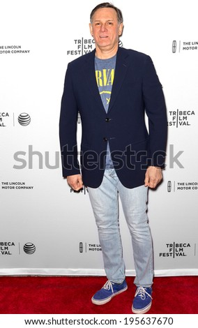 NEW YORK, NY - APRIL 18: Real Estate Investor/philanthropist Craig M. Hatkoff attends the 'Alex of Venice' screening during the 2014 Tribeca Film Festival at SVA Theater - stock photo