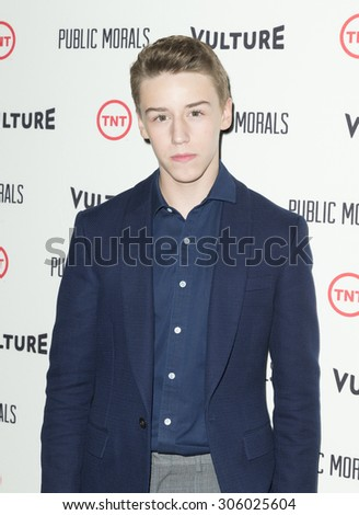 New York, NY - August 12, 2015: Cormac Cullinane attend the Public Morals New York series screening at Tribeca Grand Hotel Screening Room - stock photo
