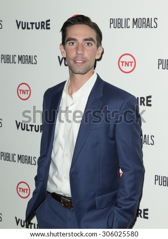 New York, NY - August 12, 2015: Keith Nobbs attend the Public Morals New York series screening at Tribeca Grand Hotel Screening Room - stock photo