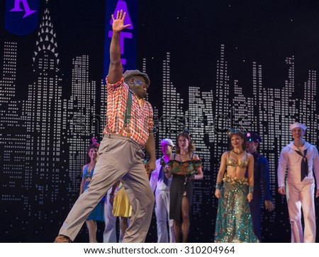 New York, NY - August 25, 2015: Philip Boykin at Misty Copeland as Ivy Smith/Miss Turnstyles debut performance in Broadway musical On The Town in Lyric Theatre - stock photo