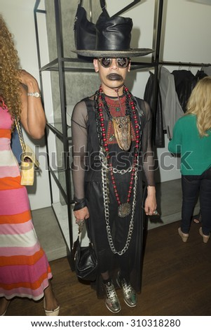 New York, NY - August 19, 2015: Robhy Ortega attends Mackage X Bradley Theodore undergraound artist art exhibition at Mackage Soho