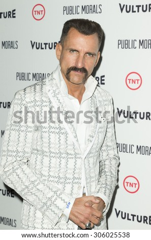 New York, NY - August 12, 2015: Wass Stevens attend the Public Morals New York series screening at Tribeca Grand Hotel Screening Room - stock photo